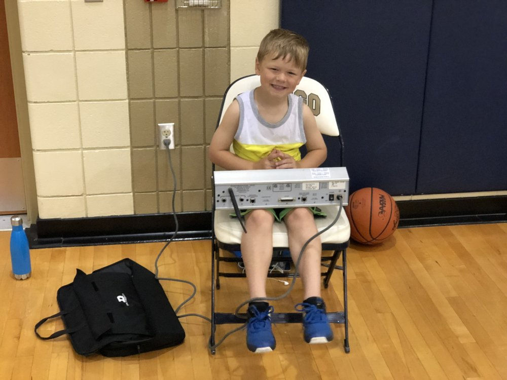 Harrison working the clock for me at practice.