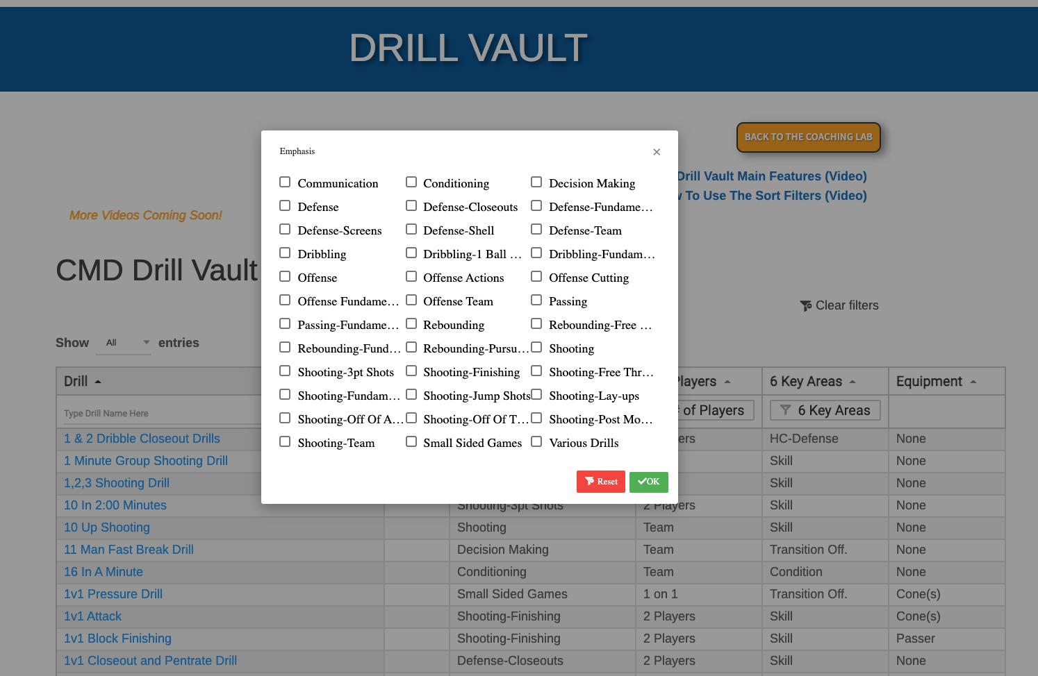 Drill Vault Filter 1