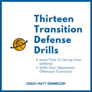 Thirteen Transition Defense Drills